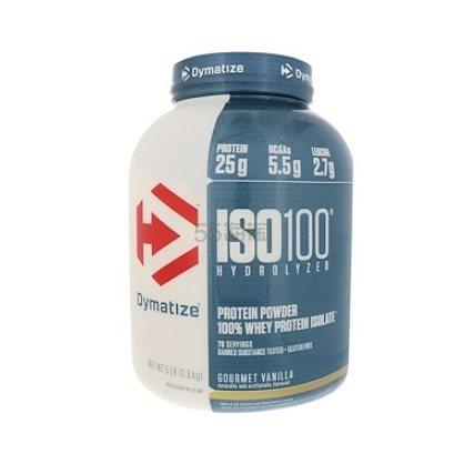 【一罐0税免邮】Dymatize Nutrition ISO100水解 100%乳清分离蛋白 香草 2.3kg