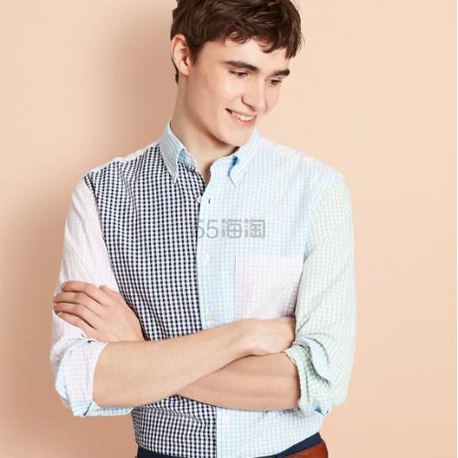 Brooks Brothers Gingham 拼接格纹男士衬衫 (约273元) - 海淘优惠海淘折扣|55海淘网