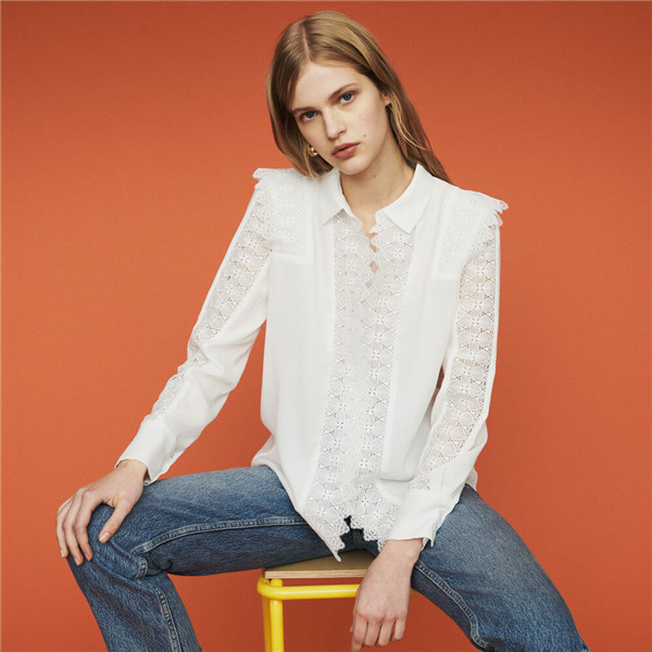 Maje SHIRT WITH LACE