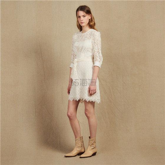 Sandro 蕾丝镂空腰带连衣裙 8.4(约829元) - 海淘优惠海淘折扣|55海淘网