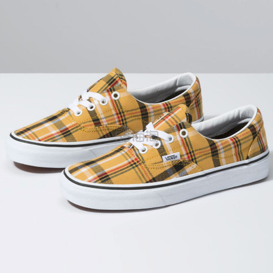 Vans 万斯 姜黄色格纹板鞋 .78(约264元) - 海淘优惠海淘折扣|55海淘网
