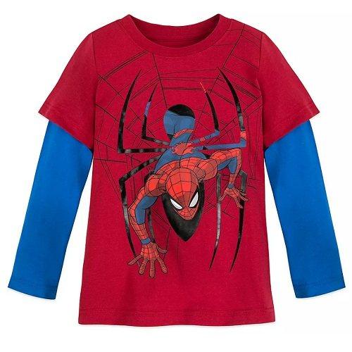 第2件半价!Disney 迪士尼 蜘蛛侠男孩长袖上衣 .96(约105元) - 海淘优惠海淘折扣|55海淘网