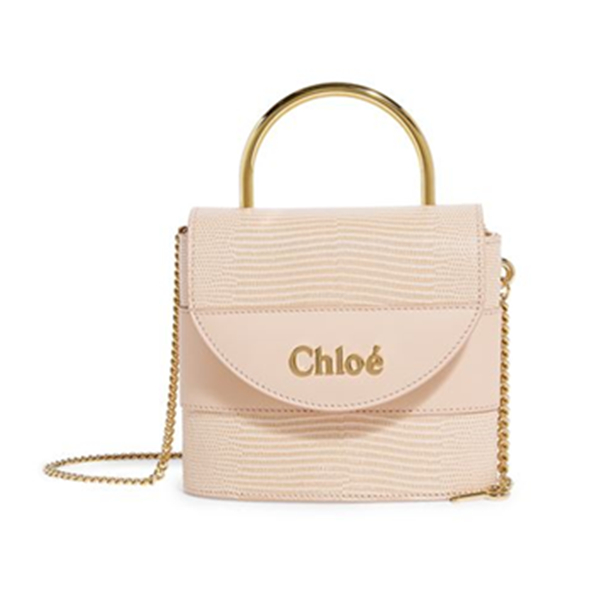 【澳门定价优势】Chloé Small Lizard-Embossed Aby Loc 单肩包