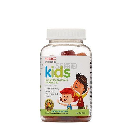 GNC 健安喜 兒童綜合維生素軟糖 120粒 .99(約55元) - 海淘優惠海淘折扣|55海淘網