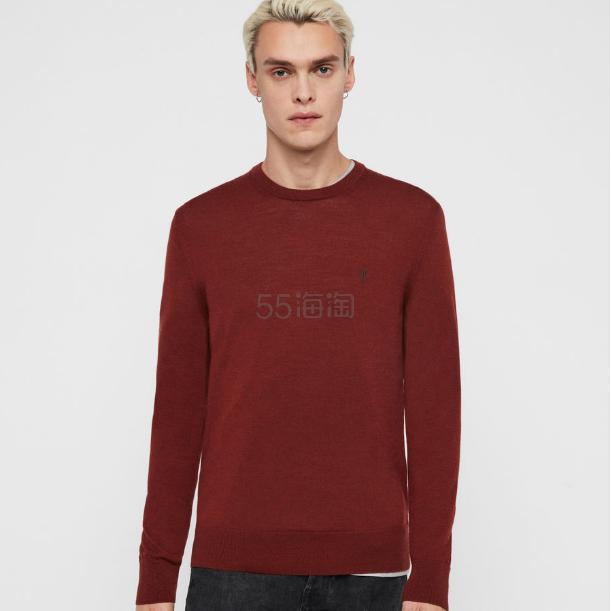 AllSaints MODE MERINO 圆领针织衫 £45.6(约416元) - 海淘优惠海淘折扣|55海淘网