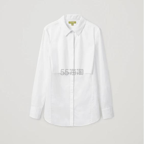 COS 翻领白衬衫 (约692元) - 海淘优惠海淘折扣|55海淘网