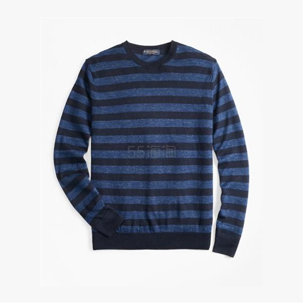 Brooks Brothers 男士条纹针织衫 (约448元) - 海淘优惠海淘折扣 55海淘网
