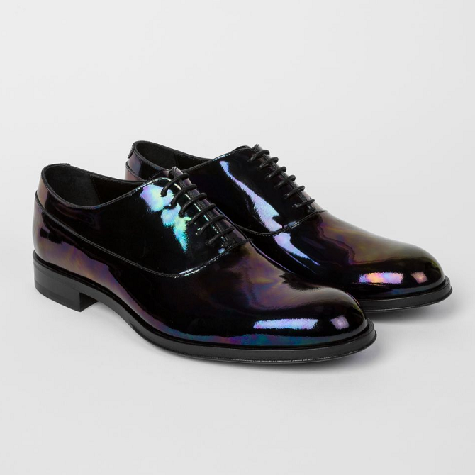 Paul Smith Iridescent Black Leather Noam 镭射牛津鞋