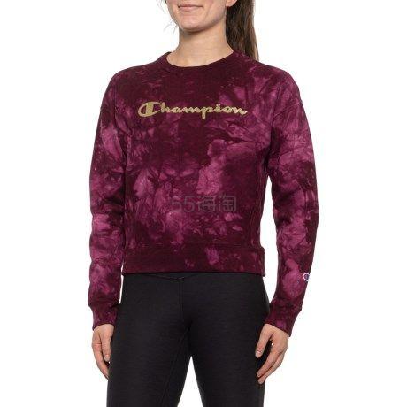 限时高返12%!码全!Champion 冠军 Scrunch Dye Reverse Weave 女士圆领卫衣 .99(约175元) - 海淘优惠海淘折扣|55海淘网