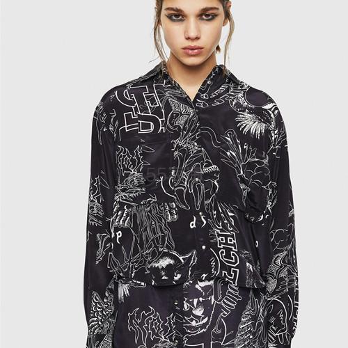 Diesel 个性印花女士衬衫 8(约1,735元) - 海淘优惠海淘折扣|55海淘网