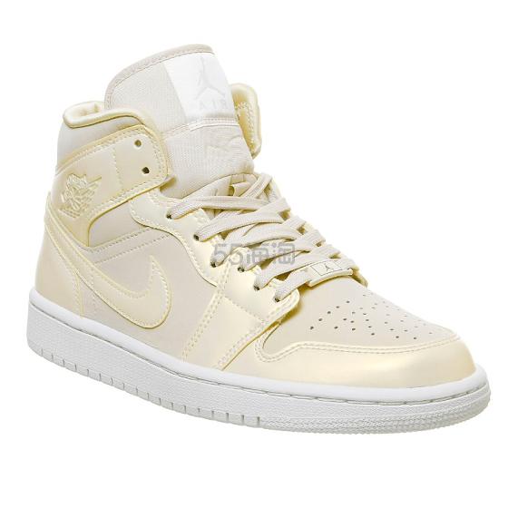 Air Jordan 1 Mid 米黄色女士运动鞋 6(约943元) - 海淘优惠海淘折扣|55海淘网