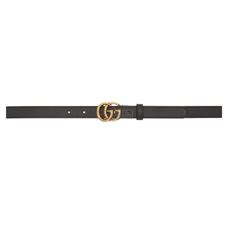 【美国站疑似 BUG 价】Gucci 黑色 GG 细款皮带 5(约1,916元) - 海淘优惠海淘折扣|55海淘网