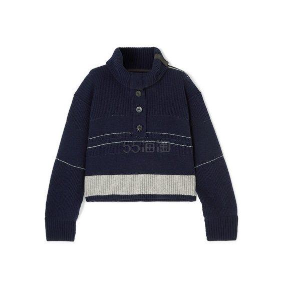 SACAI 华夫格针织羊毛毛衣 £678.6(约6,190元) - 海淘优惠海淘折扣|55海淘网