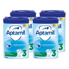 满额包邮!Aptamil 德国爱他美 Pronutra 婴幼儿奶粉 3段 800g*4罐 适合10个月以上