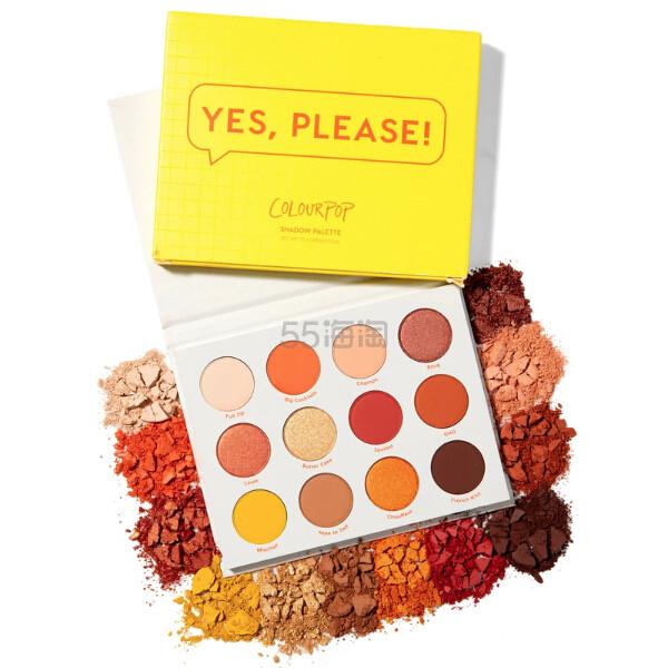 Colourpop 12色眼影盘 Yes Please .8(约89元) - 海淘优惠海淘折扣|55海淘网