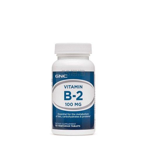 GNC 健安喜 维生素B2 100mg 100粒 .79(约33元) - 海淘优惠海淘折扣|55海淘网