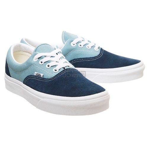Vans 万斯 Era 蓝色拼色低帮板鞋 £36(约325元) - 海淘优惠海淘折扣|55海淘网