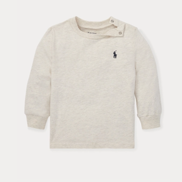 Ralph Lauren 拉夫劳伦 Cotton Jersey Long-Sleeve 幼儿T恤
