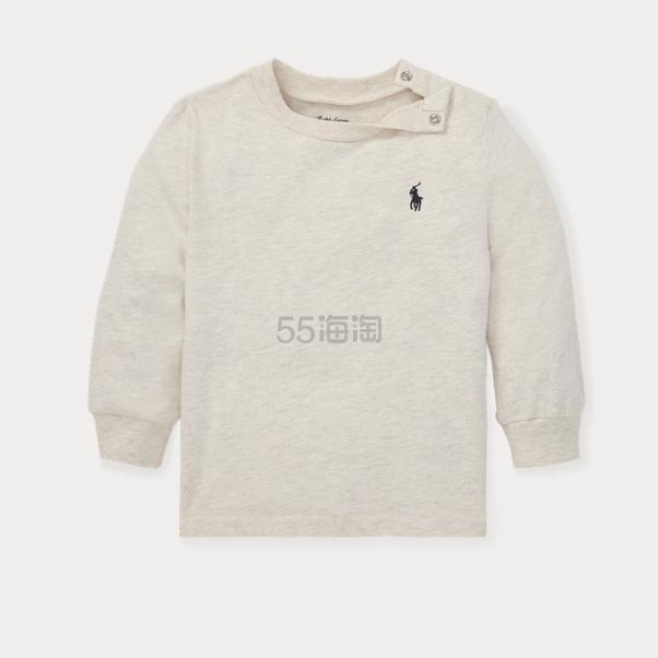 Ralph Lauren 拉夫劳伦 Cotton Jersey Long-Sleeve 幼儿T恤 .99(约90元) - 海淘优惠海淘折扣|55海淘网