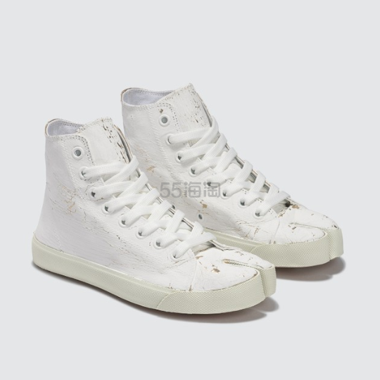 MAISON MARGIELA Tabi 白色分趾高帮帆布鞋 4(约3,770元) - 海淘优惠海淘折扣|55海淘网