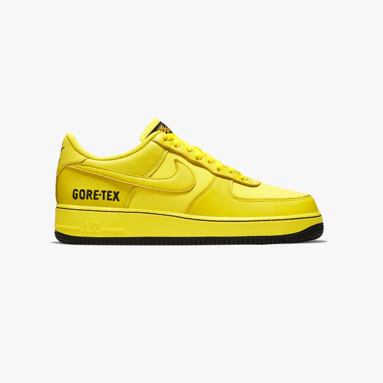 【码全】Nike Sportswear Air Force 1 GTX 黄色低帮运动鞋