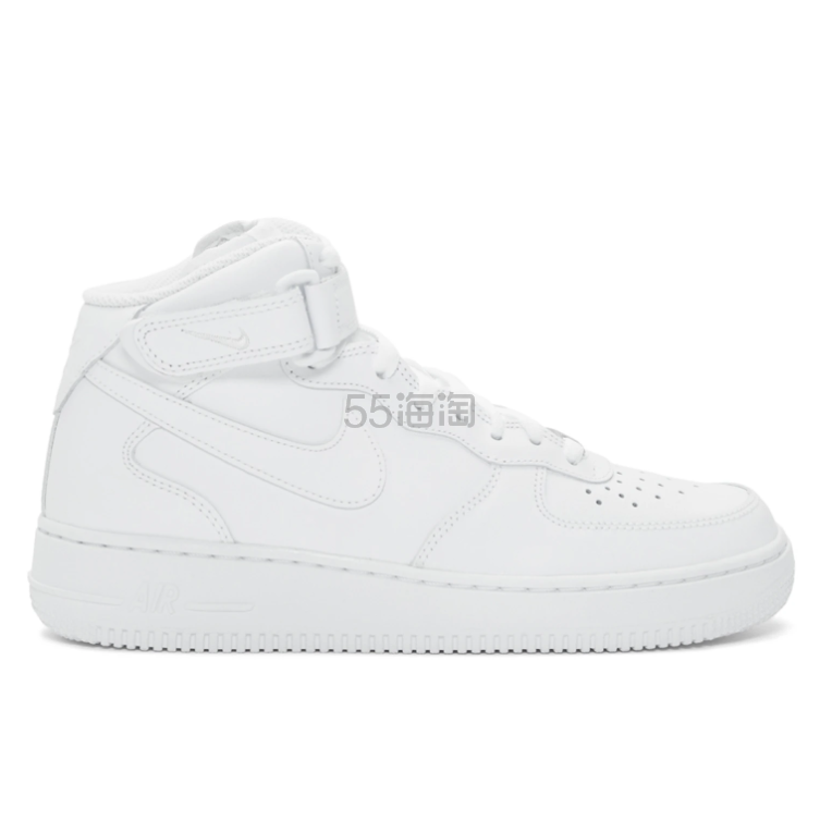Nike Air Force 1 07 全白中帮运动鞋 0(约832元) - 海淘优惠海淘折扣|55海淘网