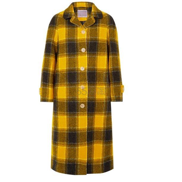 ALEXA CHUNG 大廓形格纹羊毛外套 £487.5(约4,394元) - 海淘优惠海淘折扣|55海淘网
