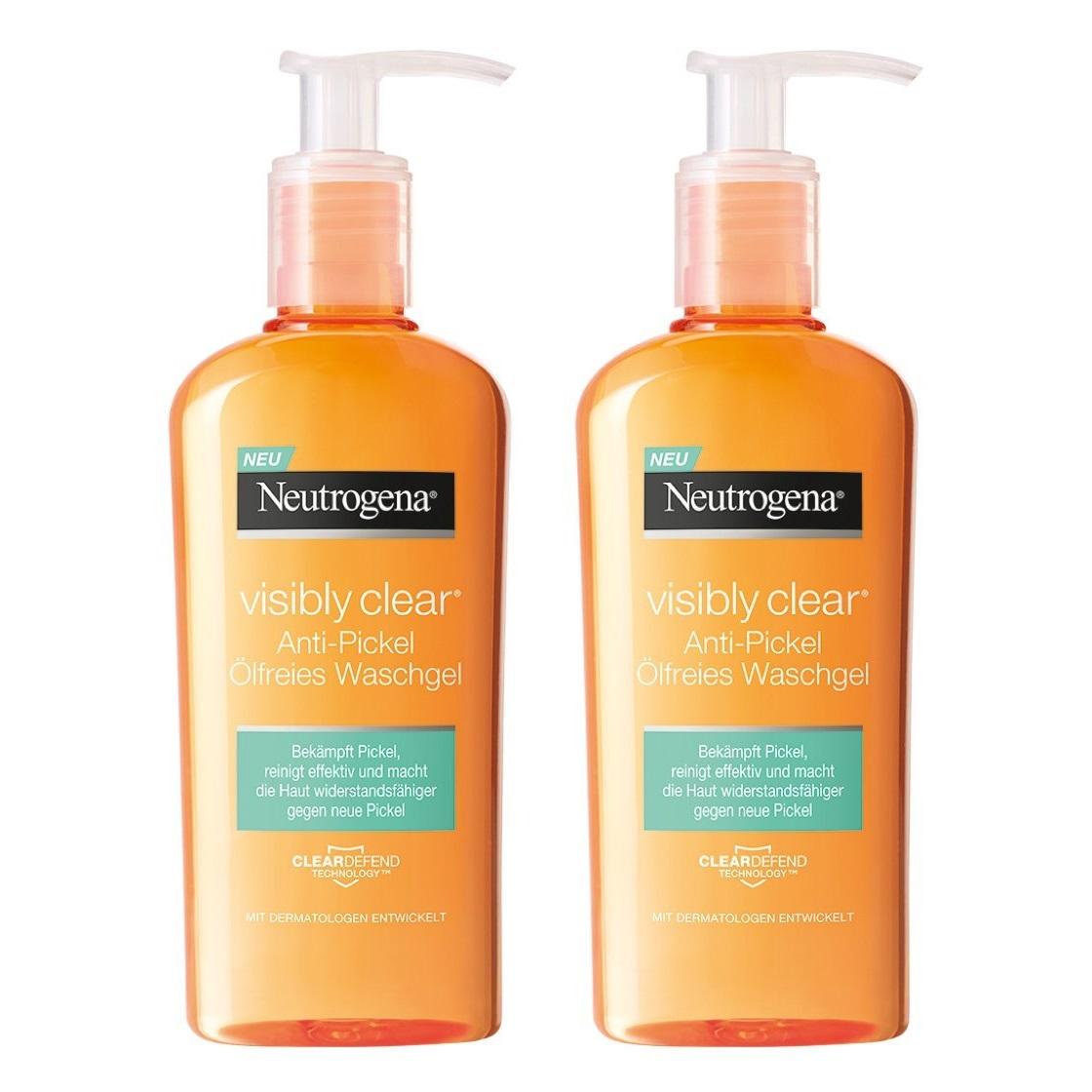 Neutrogena 露得清 控油保湿水杨酸洁面乳 200ml*2瓶