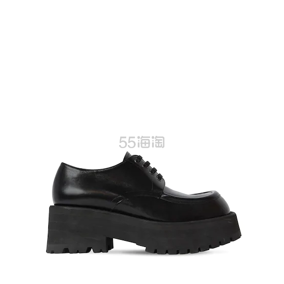 MARNI 60毫米CARRO ARMATO皮革系带鞋 3(约4,787元) - 海淘优惠海淘折扣 55海淘网