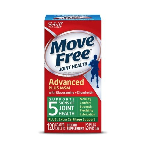 【买1送1+满额减】绿盒!Schiff Move Free 维骨力 葡萄糖胺软骨素+MSM 120粒 .33(约86元) - 海淘优惠海淘折扣|55海淘网