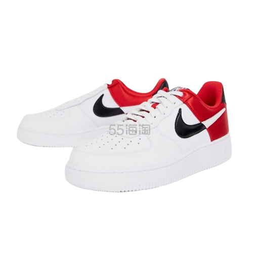 Nike Air Force 1 07 耐克空军1号黑红配色低帮运动鞋 ¥536.03 - 海淘优惠海淘折扣|55海淘网