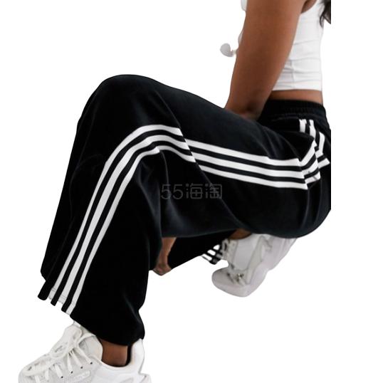 adidas Originals 黑色丝绒三条扛阔腿裤 ¥378.37 - 海淘优惠海淘折扣|55海淘网