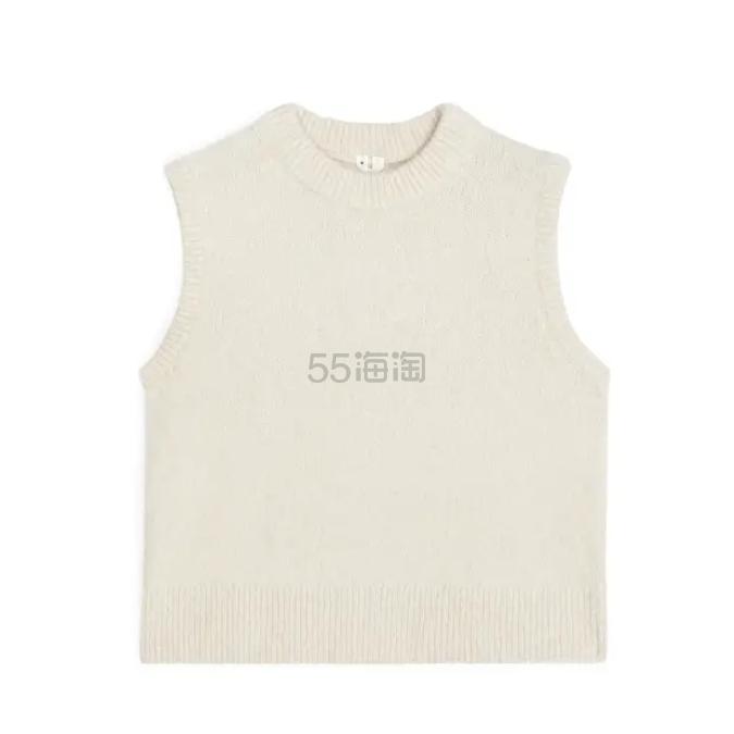 ARKET 白色毛衣背心 £55.2(约493元) - 海淘优惠海淘折扣|55海淘网