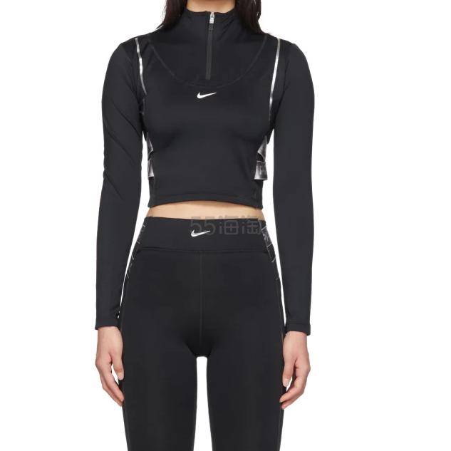 Nike 黑色緊身反光露腰運動衣 (約623元) - 海淘優惠海淘折扣|55海淘網