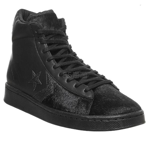 Converse Pro Leather Hi 黑色高帮皮质运动鞋 7(约810元) - 海淘优惠海淘折扣|55海淘网