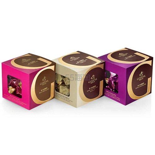 Godiva 歌帝梵 牛奶黑巧克力和香草巧克力方块盒 3件 22个/件 (约208元) - 海淘优惠海淘折扣 55海淘网