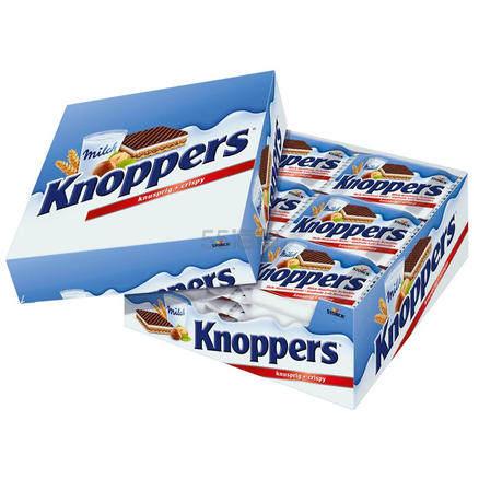 【凑单品】knoppers 牛奶榛子巧克力威化饼干家庭装 24包