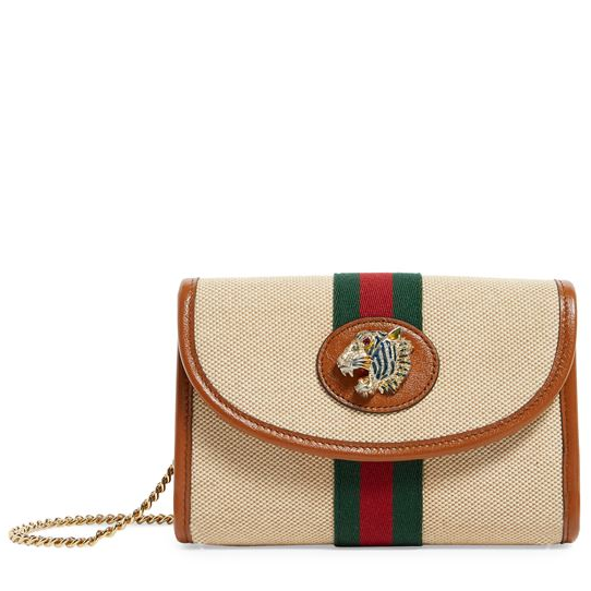 Gucci Mini Canvas Rajah 新款单肩包