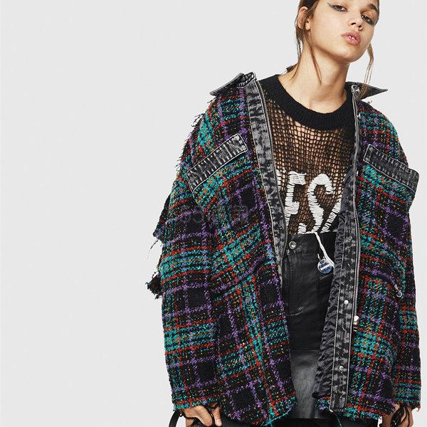 Diesel 彩色格纹毛呢衬衫夹克 8(约2,415元) - 海淘优惠海淘折扣|55海淘网