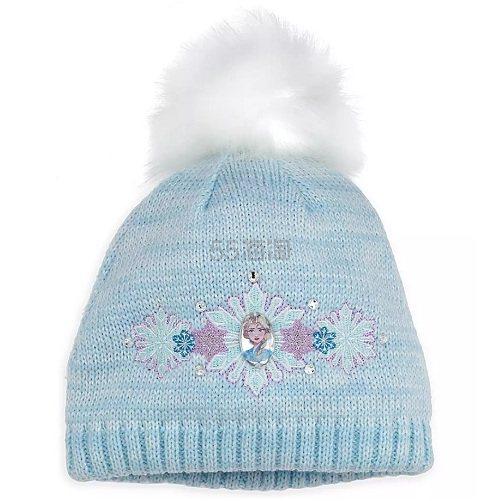 Disney 迪士尼 冰雪奇缘 艾莎儿童蓝色毛线帽 .95(约104元) - 海淘优惠海淘折扣|55海淘网