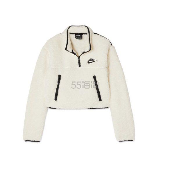 NIKE 平纹布边饰抓绒短款卫衣 £55(约495元) - 海淘优惠海淘折扣|55海淘网
