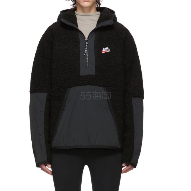 Nike 黑色毛绒卫衣 0(约971元) - 海淘优惠海淘折扣|55海淘网