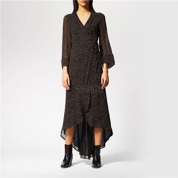 Ganni 裹身长袖连衣裙 ¥632.1 - 海淘优惠海淘折扣|55海淘网