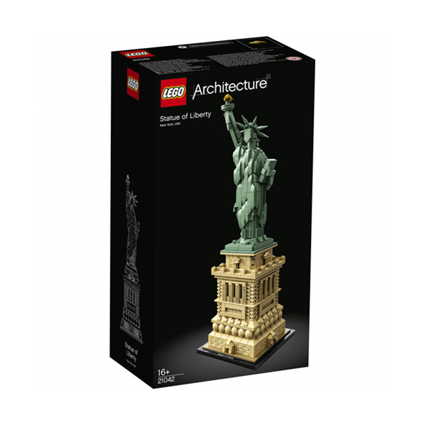【一件免邮】LEGO Architecture: Statue of Liberty (21042) 乐高自由女神像