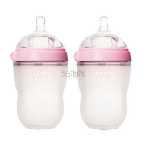 Comotomo 可么多么 粉色婴儿硅胶奶瓶 250ml 2只装 .19(约133元) - 海淘优惠海淘折扣|55海淘网