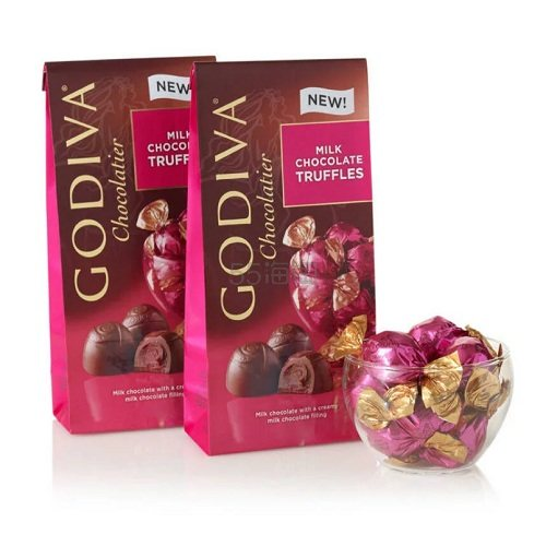 Godiva 歌帝梵 松露牛奶巧克力 2袋装 19颗/袋 (约139元) - 海淘优惠海淘折扣|55海淘网