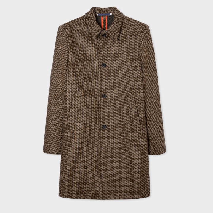【双11】Paul Smith Brown Wool-Blend 羊毛混纺大衣