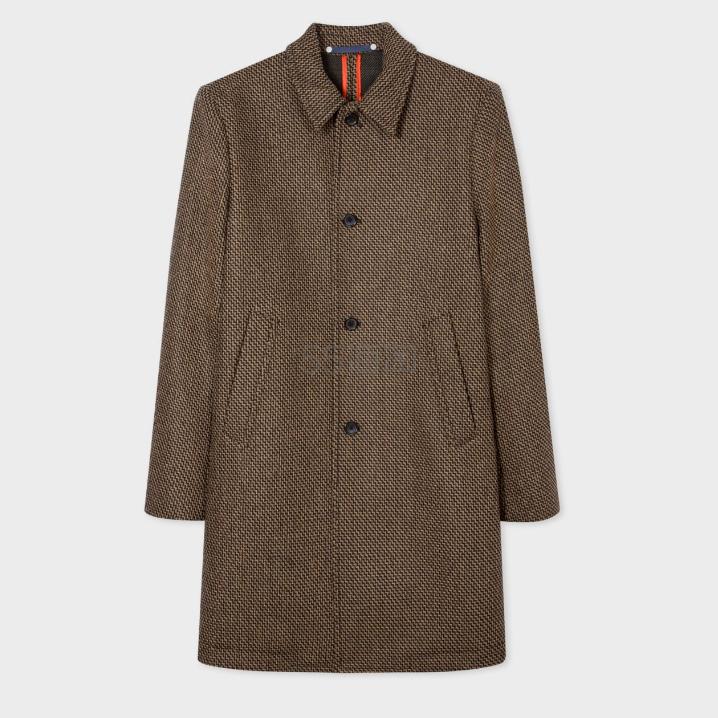 【双11】Paul Smith Brown Wool-Blend 羊毛混纺大衣 £425.1(约3,826元) - 海淘优惠海淘折扣|55海淘网
