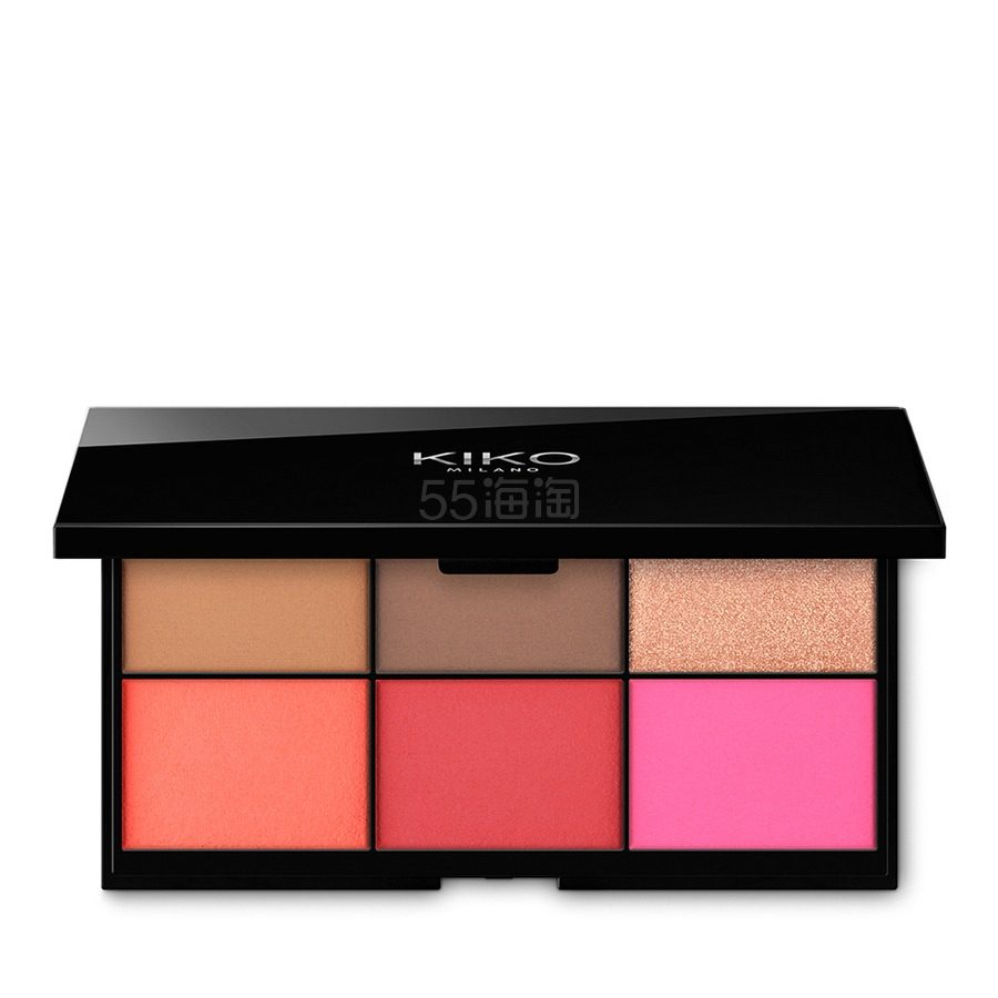 Kiko Smart Essential Face Palette 6色颊彩盘 .5(约87元) - 海淘优惠海淘折扣|55海淘网