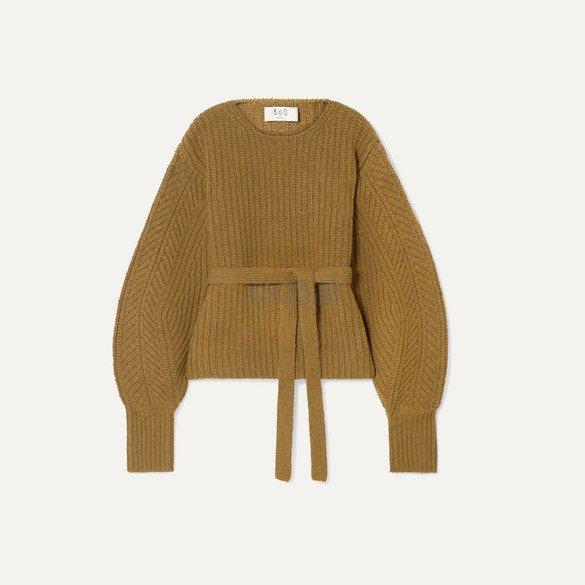 SEA Nellie 配腰带罗纹羊毛毛衣 6.25(约2,060元) - 海淘优惠海淘折扣|55海淘网